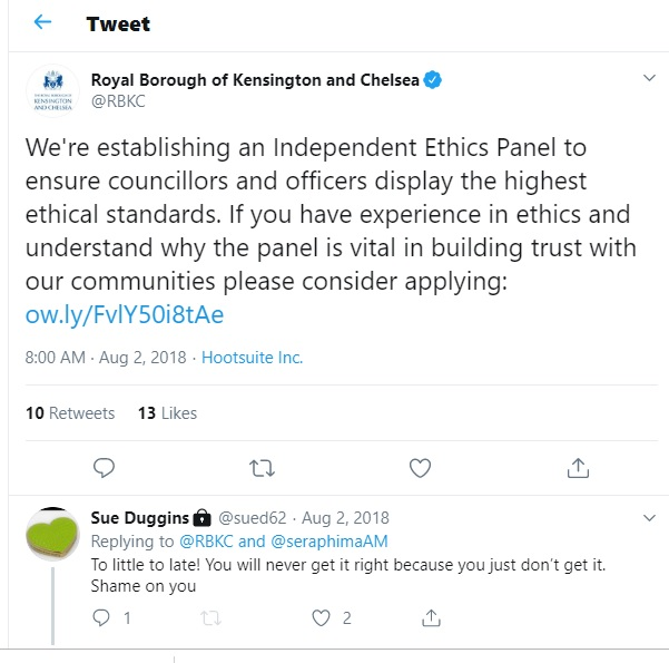 Ethics Tweet